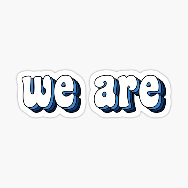 Groovy We Are Sticker