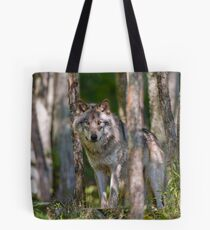 Timber wolf in Forest Tote Bag