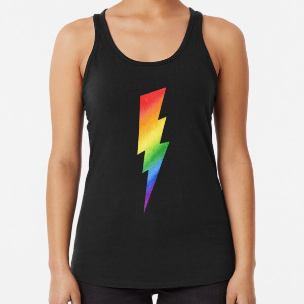 Hawaii LGBT Gay Pride Rainbow Black Adult Tank Top