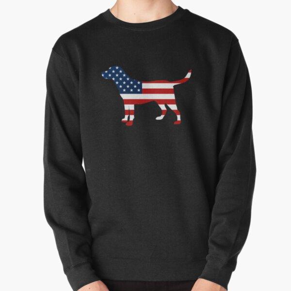 Labrador Retriver Patriotic USA Flag Stars and Stripes Lab Pullover Sweatshirt