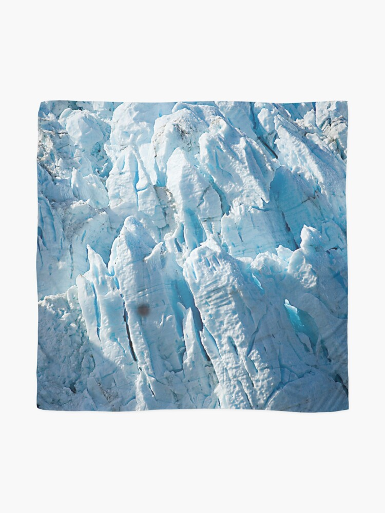 Alternate view of Alaskan Blue Ice Glacier Art Photo Scarf