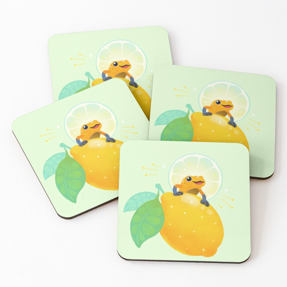 Golden poison lemon sherbet 1 Coasters (Set of 4)