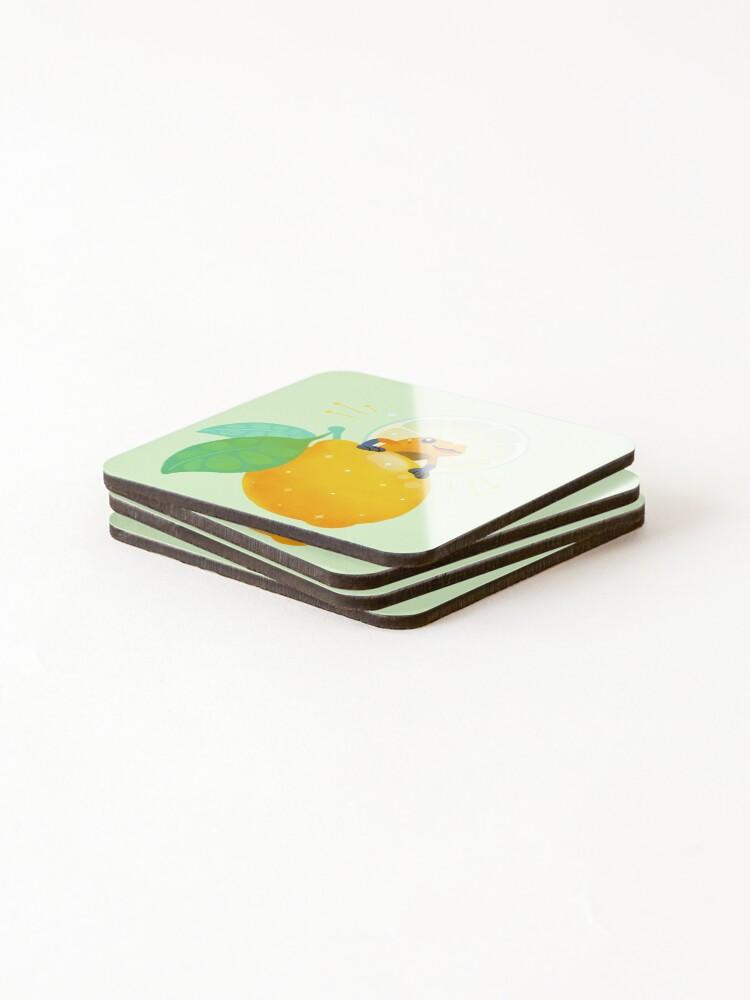 Alternate view of Golden poison lemon sherbet 1 Coasters (Set of 4)