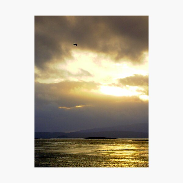 Sunset over Ardmucknish Bay, Argyll. Photographic Print