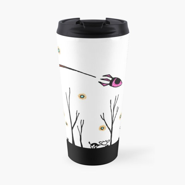Snowy Cows in Apocalyptic Radioactive Dust-Snow Forest Travel Mug