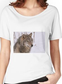 Timber Wolf Portrait  Women's Relaxed Fit T-Shirt