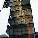 Reflected Tower Block in Barca by Cliff Williams