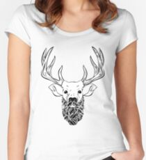 Deer Beard Fitted Scoop T-Shirt