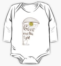 Give me the light. Hand drawn lettering Kids Clothes