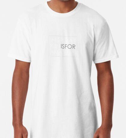 Inspiration Is For Amateurs Motivation Slogan (Dark Theme) Long T-Shirt