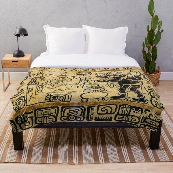 Mayan Art #MayanArt  #Maya #pattern, #art, #text, #old, #design, abstract, paper, symbol, ancient, antique Throw Blanket