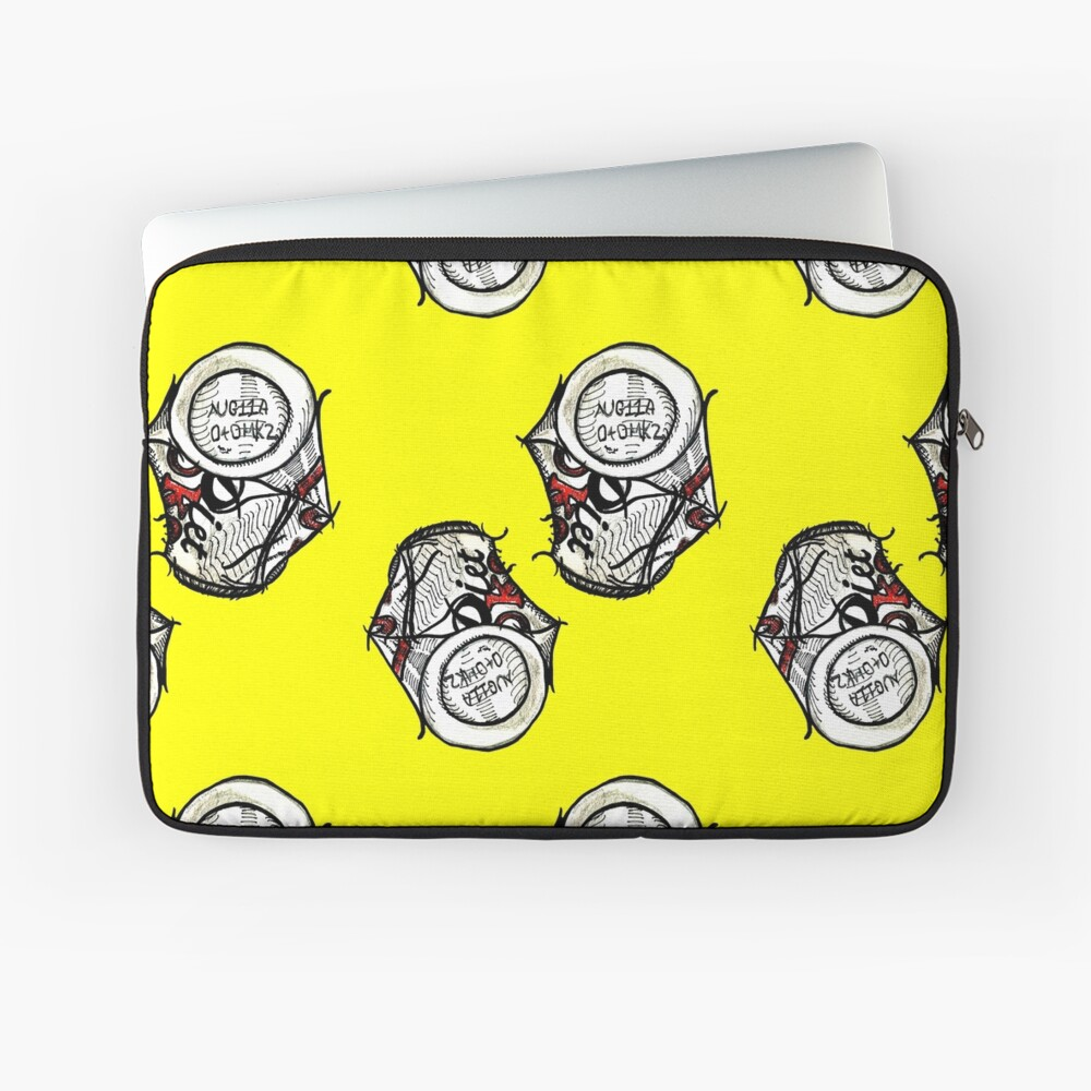 Crushed Coke Can - Yellow Laptop Sleeve