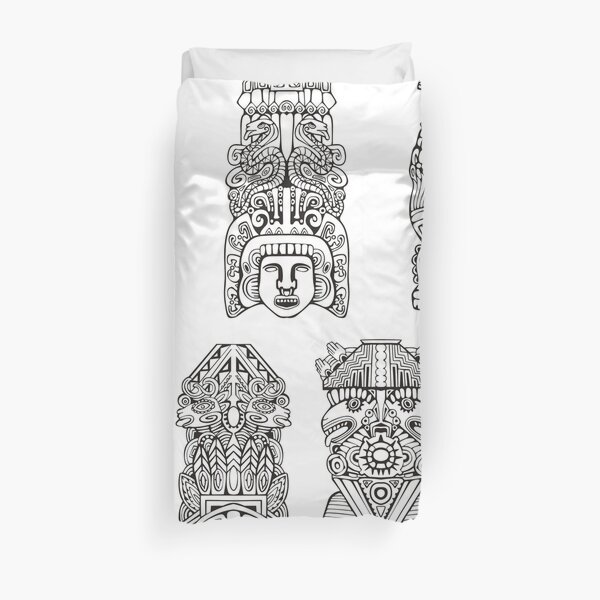 #Collection, #ancient, #illustration, #design, antique, art, decoration, ornate, religion Duvet Cover