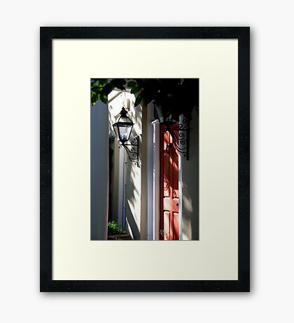 In Down Town Charleston Framed Print