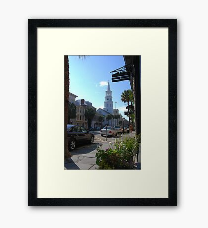St. Michaels Church on Broad Street in Charleston Framed Print