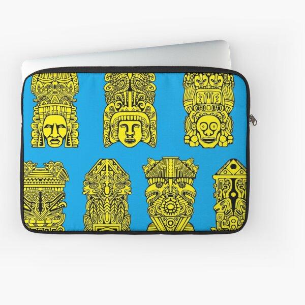 #Illustration, #art, #ancient, #antique, ornate, old, design, aztec, symbol, decoration Laptop Sleeve