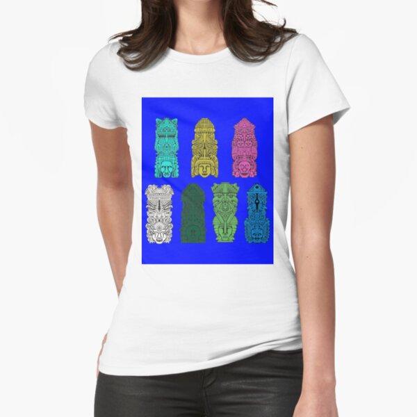 #Illustration, #art, #ancient, #antique, ornate, old, design, aztec, symbol, decoration Fitted T-Shirt