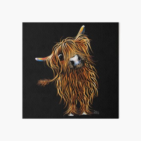 HiGHLaND CoW PRiNT SCoTTiSH ' CoooWeee ' BY SHiRLeY MacARTHuR Art Board Print