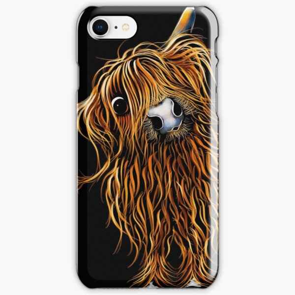 HiGHLaND CoW PRiNT SCoTTiSH ' CoooWeee ' BY SHiRLeY MacARTHuR iPhone Snap Case