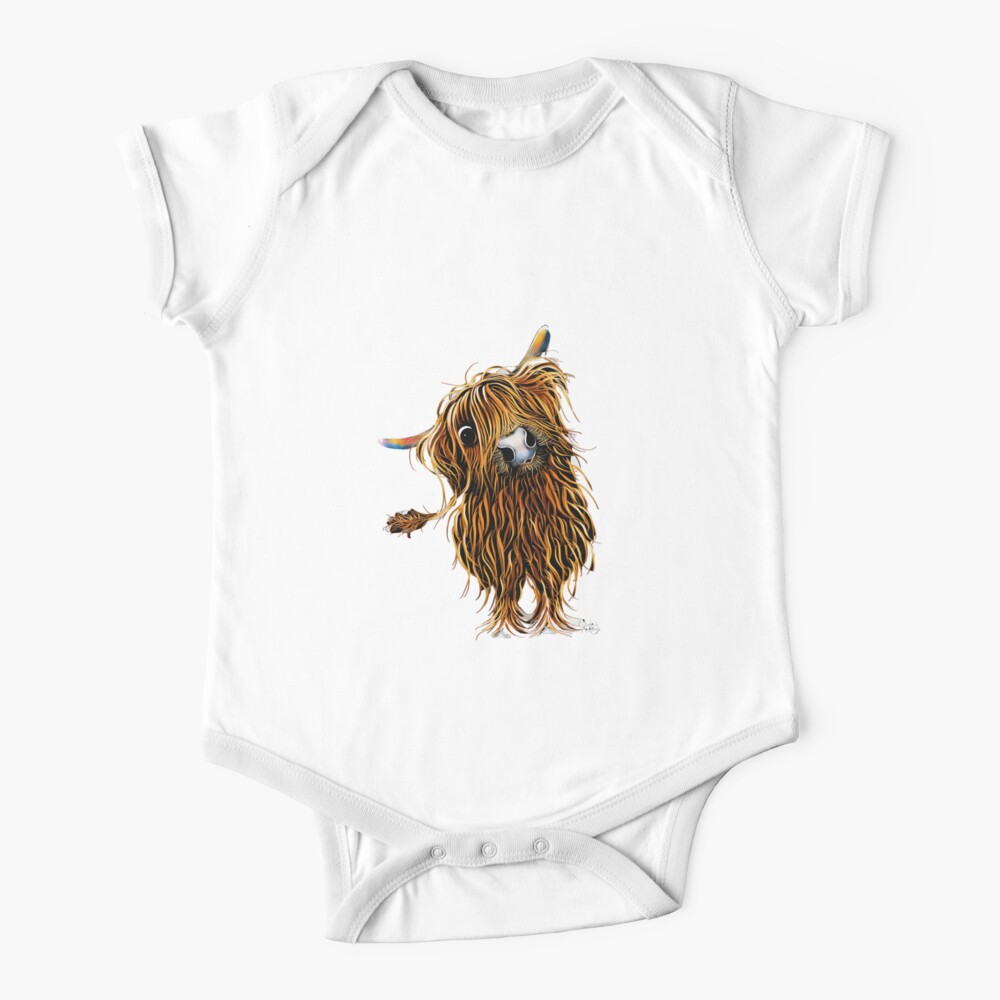 HiGHLaND CoW PRiNT SCoTTiSH ' CoooWeee ' BY SHiRLeY MacARTHuR Baby One-Piece