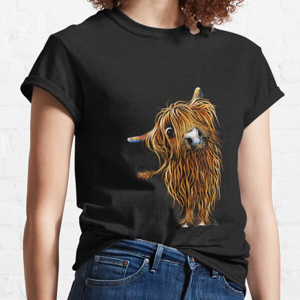 HiGHLaND CoW PRiNT SCoTTiSH ' CoooWeee ' BY SHiRLeY MacARTHuR Classic T-Shirt