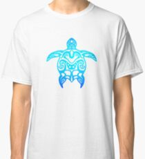 Ocean Blue Tribal Turtle Classic T-Shirt