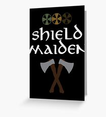 Shield Maiden Greeting Card