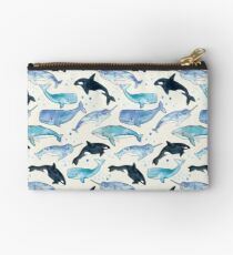 Whales, Orcas & Narwhals Zipper Pouch