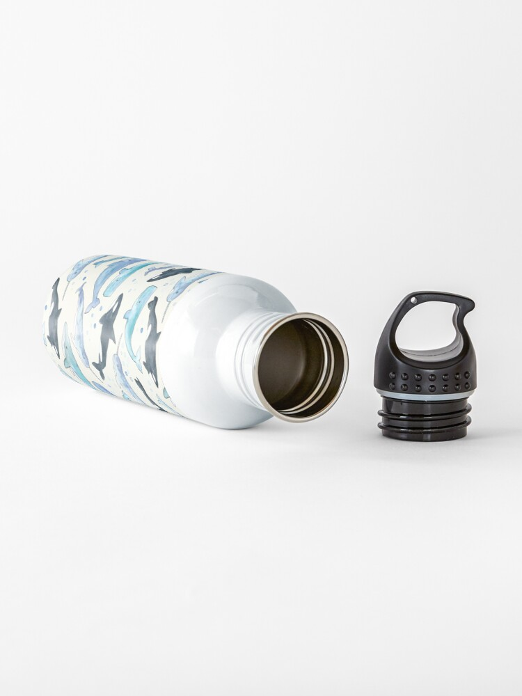 Alternate view of Whales, Orcas & Narwhals Water Bottle