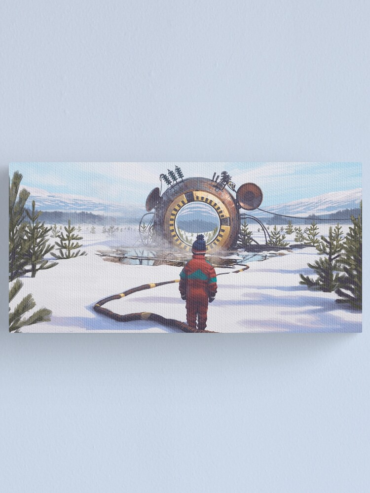 Alternate view of The Course Start Canvas Print
