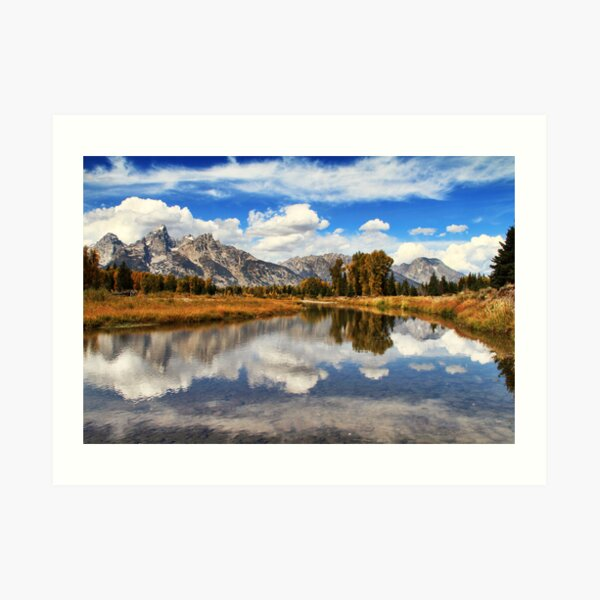 Schwabachers Landing, Jackson Hole, Wyoming. Art Print