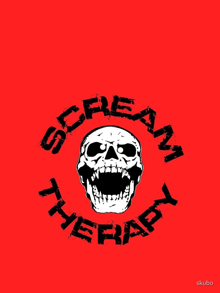 Scream Therapy - cross eyed skull filled von skubo