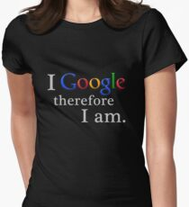 I Google (for black) Womens Fitted T-Shirt
