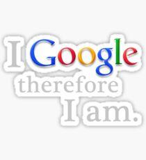 I Google (for black) Sticker