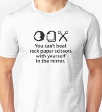 You Can't Beat Rock Paper Scissors Unisex T-Shirt