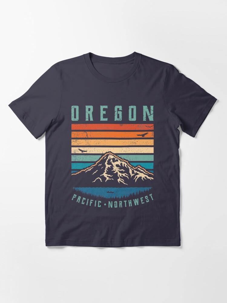 Vista alternativa de Camiseta esencial Montañas retro de oregon