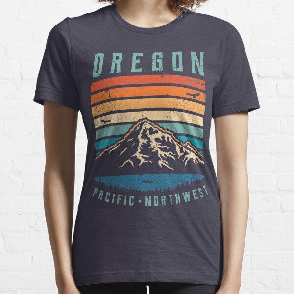 Oregon Retro Mountains Essential T-Shirt