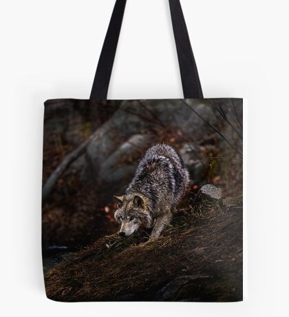 Timberwolf  3 - Photoshop Manipulation Tote Bag