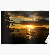 Washington Sunset Poster