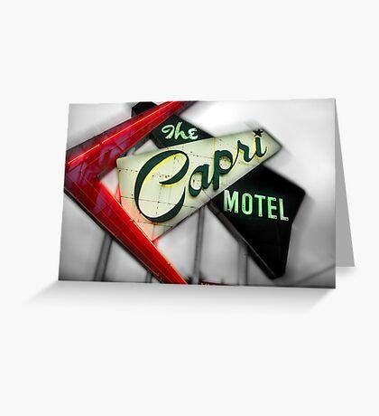 capri hotel, route 66 Greeting Card