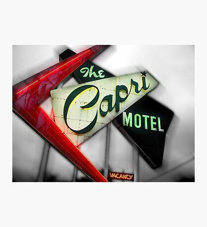 capri hotel, route 66 Photographic Print