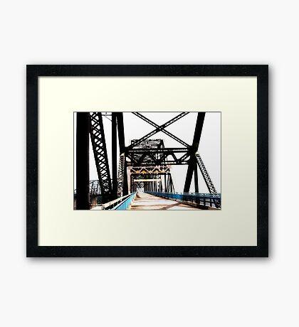 chain of rocks bridge, route 66 Framed Print