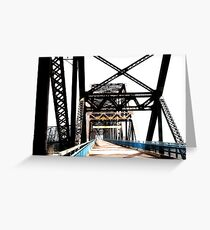 chain of rocks bridge, route 66 Greeting Card