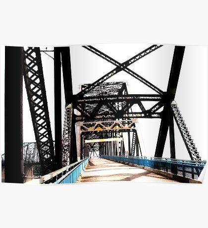 chain of rocks bridge, route 66 Poster