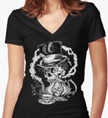 Pennyroyal Teaparty Women's Fitted V-Neck T-Shirt