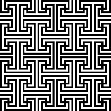 Geometric Swastika Pattern  by thomasb139