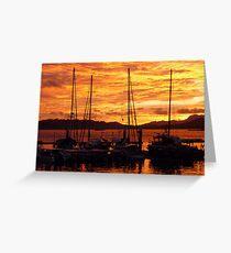 Sunset at Langkawi Harbour, Malaysia Greeting Card