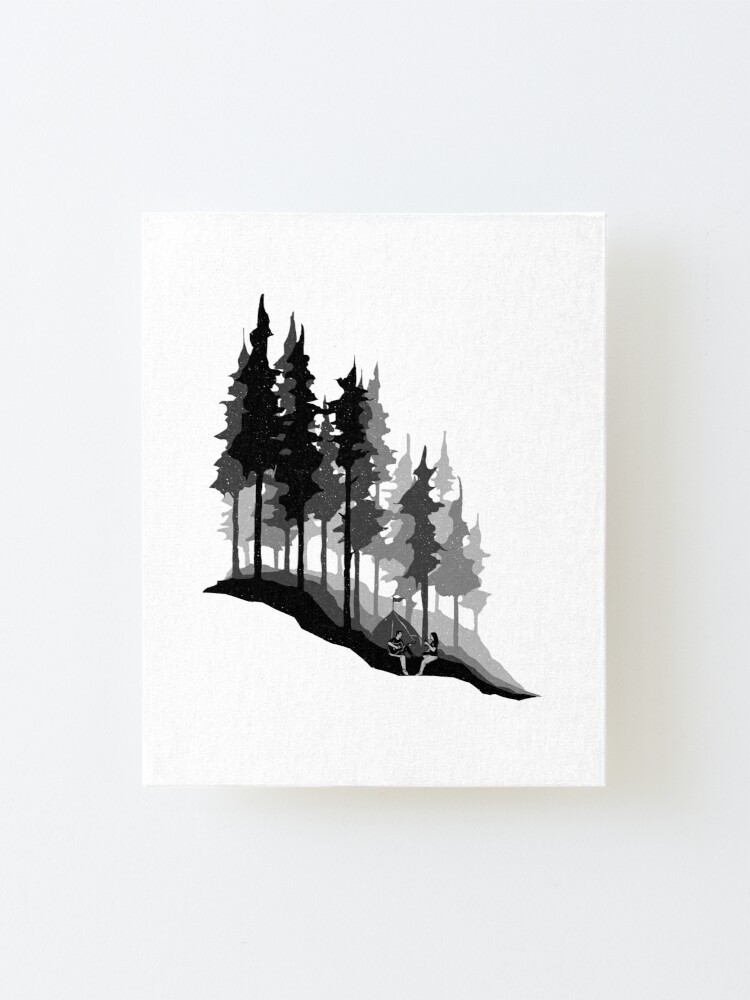 Alternate view of Romantic Camping Mounted Print