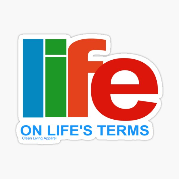 Narcotics Anonymous Life On Life's Terms 80s 90s Retro NA AA Gifts Sticker