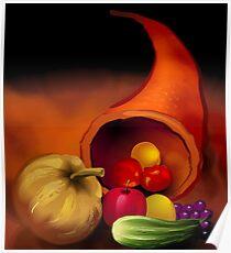 Scattering of fresh vegetables Poster